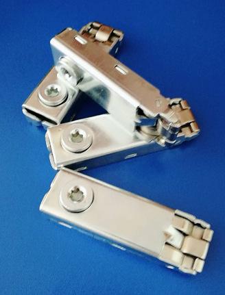 展览铝型材专用三卡锁铁皮 连接锁三卡锁 45度斜角锁 高位三卡锁