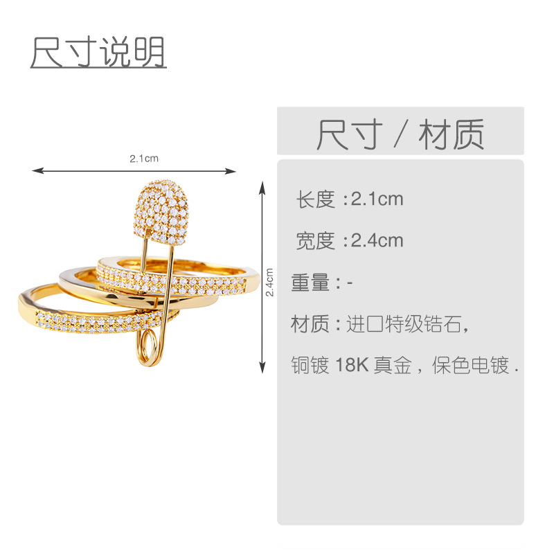 Copper Fashion Geometric Ring  (Alloy-7)  Fine Jewelry NHAS0442-Alloy-7