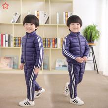 2018新款兒童運動套裝男童女童羽絨棉服兩件套寶寶棉衣棉褲