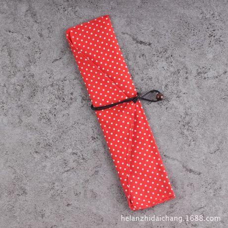 Các nhà sản xuất và xanh bông dao kéo đặt gỗ cầm tay gió rơm túi vải che dao kéo bộ Đũa