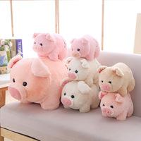 Мягкий Успокойте маленькую круглую свинную фигурку плюшевые Игрушка милая кукла-кукла-кукла детские Подушка подарок
