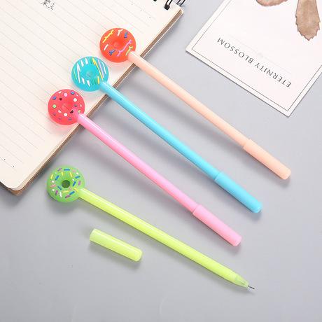 9121 Hàn Quốc nhỏ tươi dễ thương donut gel bút văn phòng phẩm học văn phòng bút sinh viên màu đen