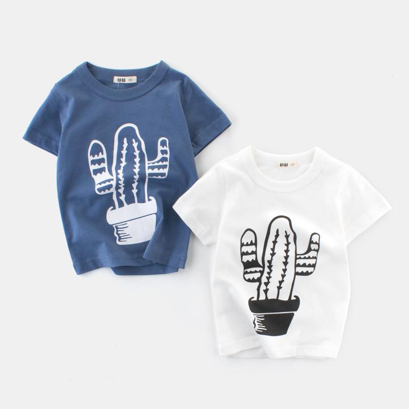 2019夏季男童装新款儿童T恤短袖上衣中小童纯棉一件待发厂家直销