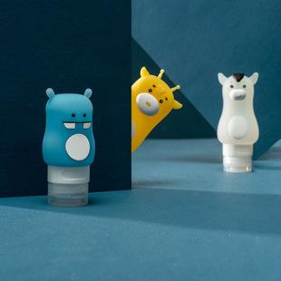 原创产品卡通旅行分装瓶洗发水沐浴露乳液瓶 出差化妆品收纳瓶66g