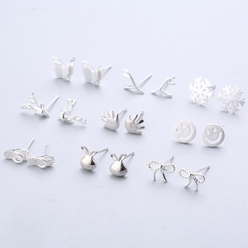氣質韓國個性簡約小雛菊學生百搭不易過敏耳飾品925純銀針耳釘女