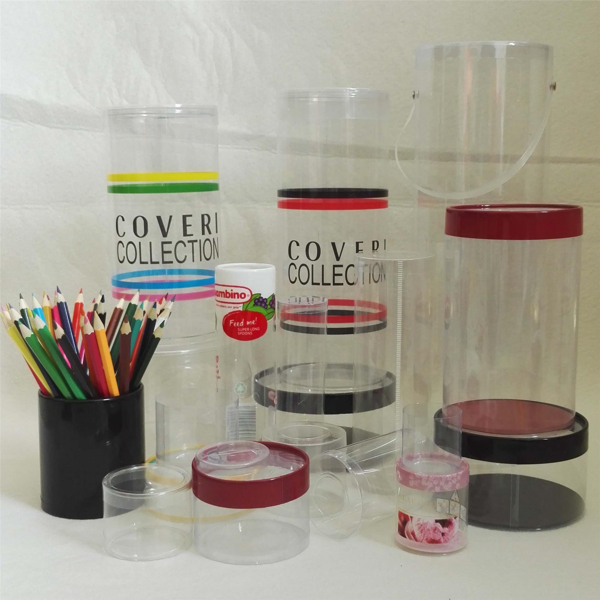 义乌厂家直销定制高档PVC圆筒盒uv印刷圆形包装盒子带盖pvc圆筒盒