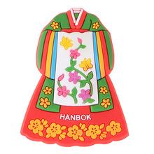 韩国工艺品 pvc软胶箱贴,滴胶卡通磁性贴,橡胶冰箱贴定做