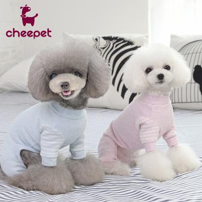 趣派宠物秋冬新款睡衣猫咪衣服加厚泰迪比熊雪纳瑞贵宾狗衣服批发