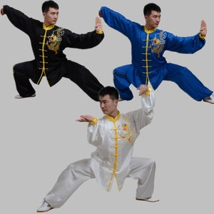 tai chi clothing kung fu uniforms Embroidered martial arts training suit short sleeves wing chun suit