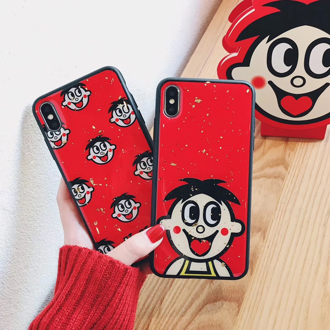 Cute Wangzi for iPhoneXs Mobile Shell Apple 8plus/6plus Glossy IMD Cover 6s Drop