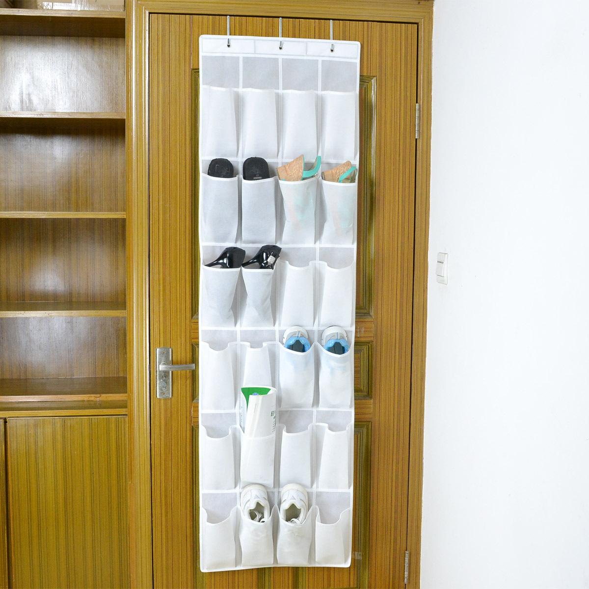 24格无纺布大容量门后鞋子收纳挂袋门窗悬挂式家居  收纳整理挂袋
