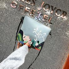 喷涂斜跨包单肩女包休闲款包包特价促销潮包冬季款外贸货源直批款