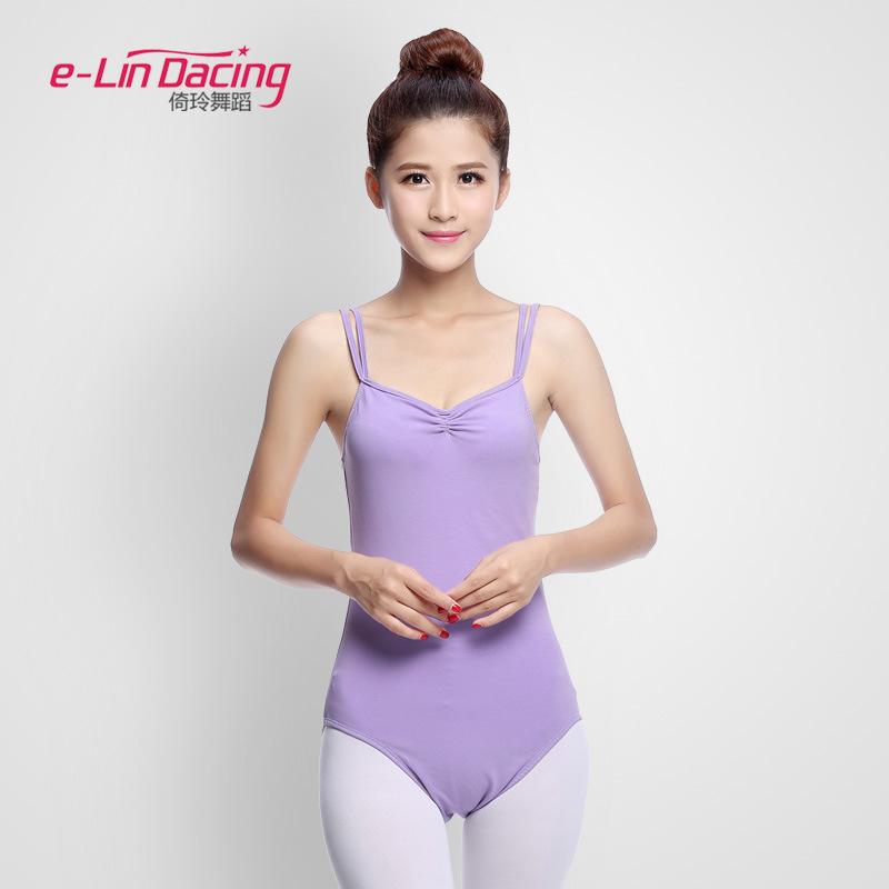 芭蕾舞蹈连体服练功形体操衣成人女双吊带基础训习中国古典批代发