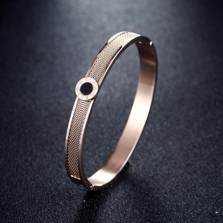 Titanium&Stainless Steel Fashion Geometric bracelet(Just color) NHZH0405-Just color
