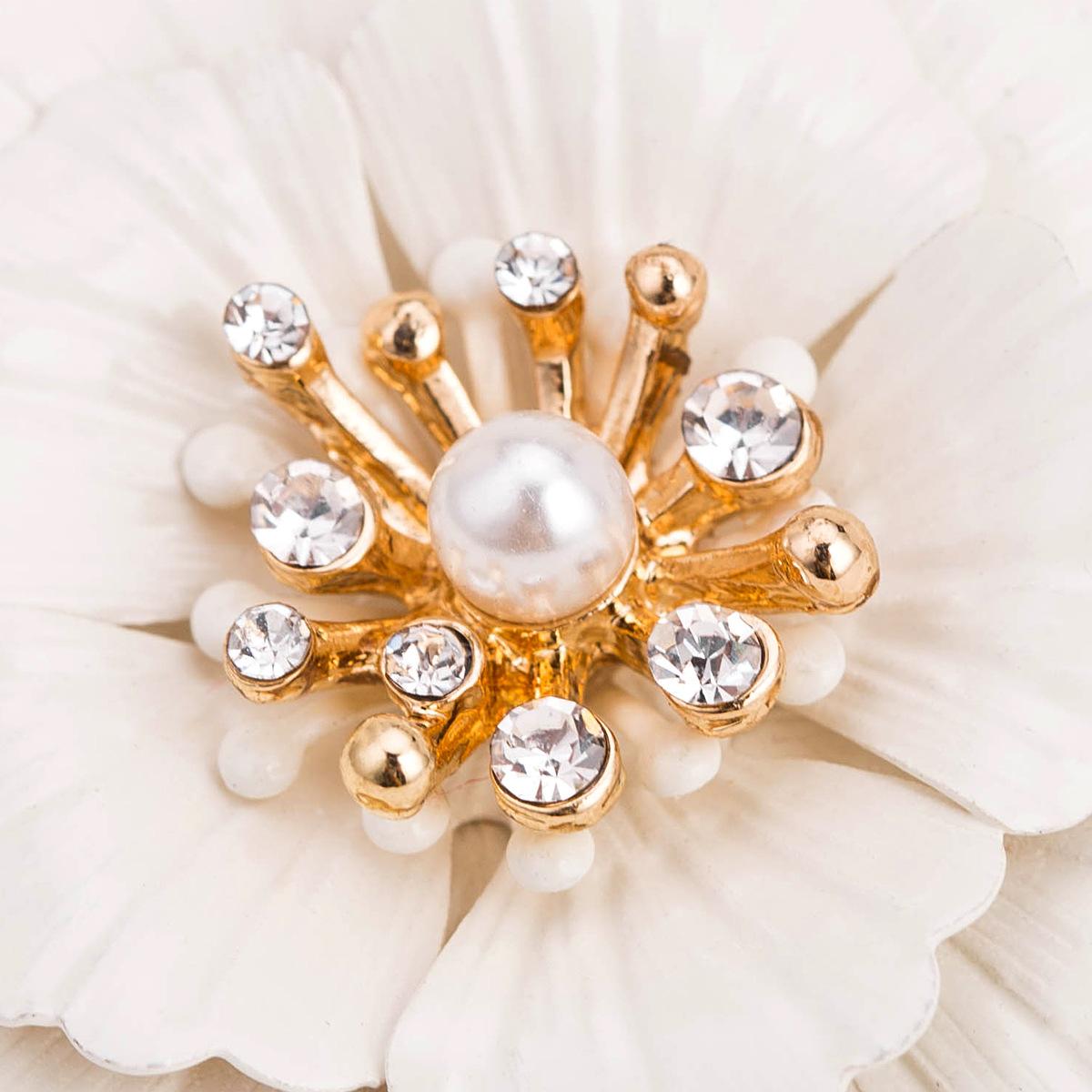 Alloy Fashion Flowers earring(white) NHJE1772-white