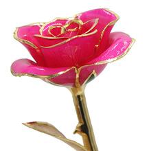 24k鍍金玫瑰花 金葉子 廠家批發  圣誕節情人節創意禮品 圣誕裝飾