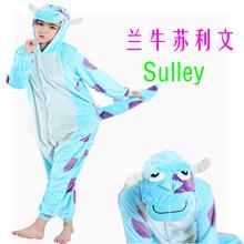 法兰绒牛卡通动物连体睡衣家居表演服