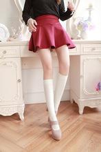日本原单校服学生袜天鹅绒连裤袜黑色中高筒袜 瘦小腿袜女及膝袜