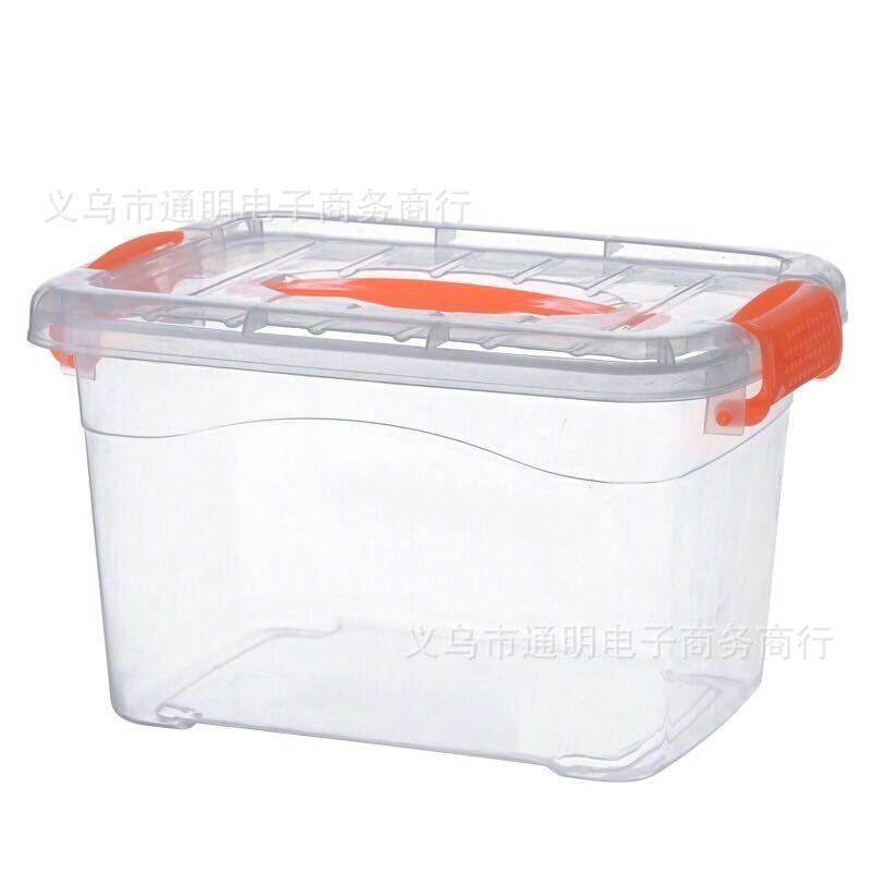 多規格塑料收納箱 兒童玩具整理箱大號儲物箱 有蓋帶扣收納整理箱