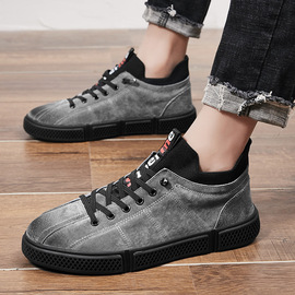 Men's shoes autumn new tide shoes wild personality handsome high to help shoes shoes men's trend casual shoes