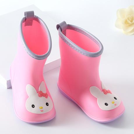 Giày rộng cho trẻ em đi mưa trẻ em trai và bé gái Giày đi mưa cho trẻ sơ sinh 1-6 tuổi trẻ em giày nước cao su giày nước mùa xuân và mùa hè Giày đi mưa