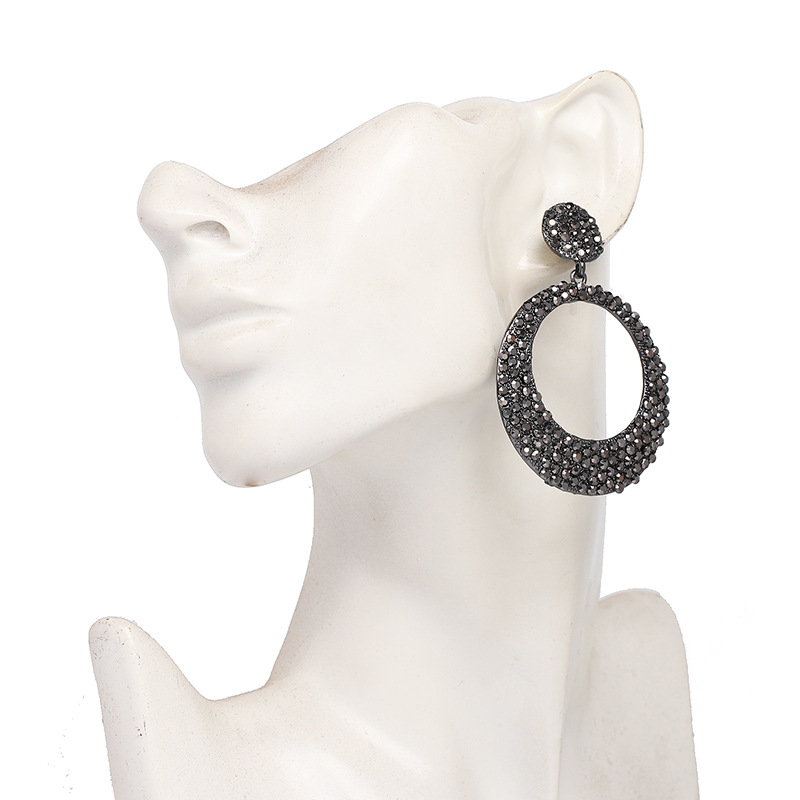 Alloy Fashion Geometric earring  (gray) NHJJ5300-gray