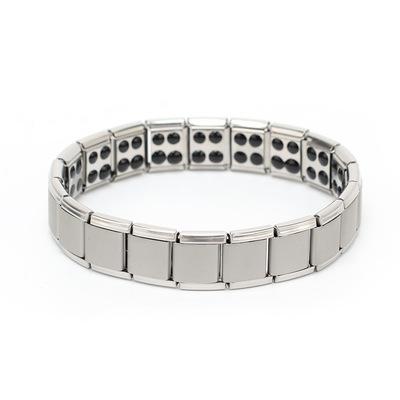 不锈钢手链饰品钛钢保健锗手镯磁石手链海外热卖首饰