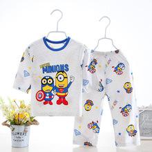 2018夏季新款童装1-8岁宝宝空调服韩版居家服九分袖冰丝棉童套装