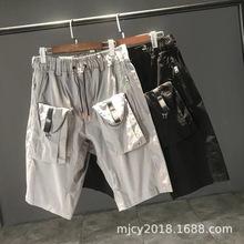 0701 男士多口袋短裤宽松工装短裤