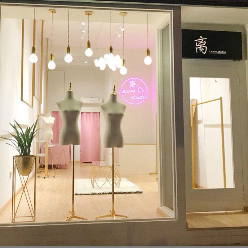吧台灯奶茶服装店铺橱窗收银台LED装饰水晶玻璃灯个性北欧小吊灯