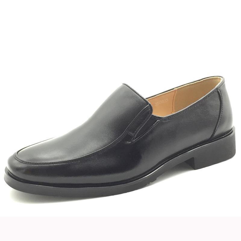 专注工作鞋30年 正装皮鞋男士商务套脚低帮2018春秋款真皮男鞋
