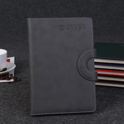 多功能平装按扣日记本 商务办公线圈记事本 学生文具便携笔记本