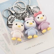 爆新款LOVE字牌韩国公主鸡蝴蝶结汽车钥匙扣包包挂件钥匙圈包挂件