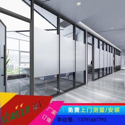山东潍坊高隔断墙 室内玻璃隔断 隔断门办公室钢化玻璃隔断厂家