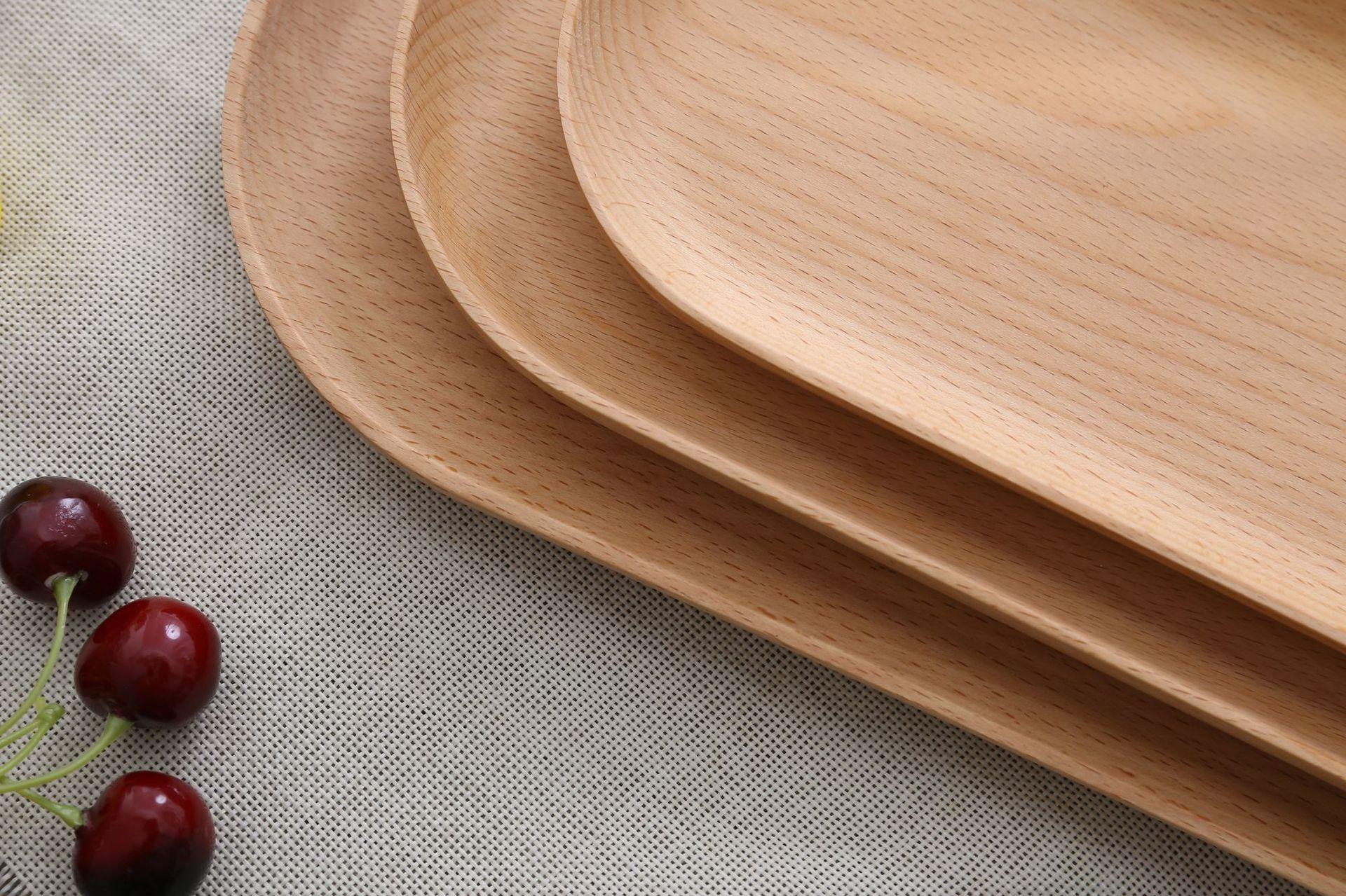 日式榉木托盘