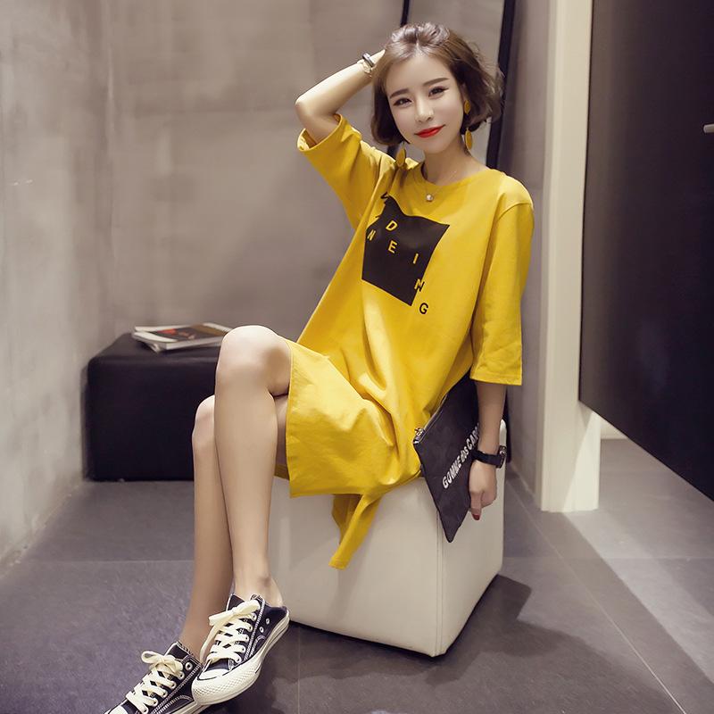 时尚新款夏季睡衣少女装韩版女士学生中长款短袖睡裙棉家居服批发