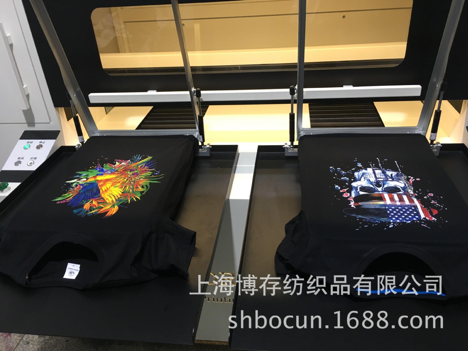 定做3d数码印花t恤 26支精全棉t恤数码直喷印花加工 定制加工