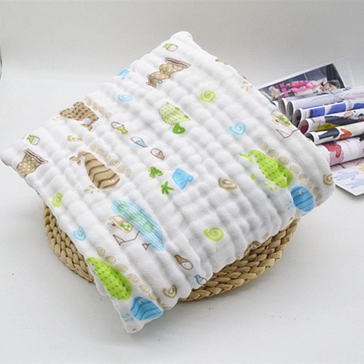 【包郵】嬰兒浴巾純棉紗布新生兒抱被毛巾被嬰童家紡六層童被蓋毯