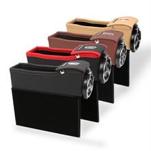 热卖车载多功能储物盒汽车零钱盒座椅缝隙置物盒通用收纳盒垃圾桶