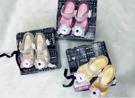 Melissa with the Unicorn children's shoes children's cartoon sandals female children's mouth jelly jelly shoes non-slip