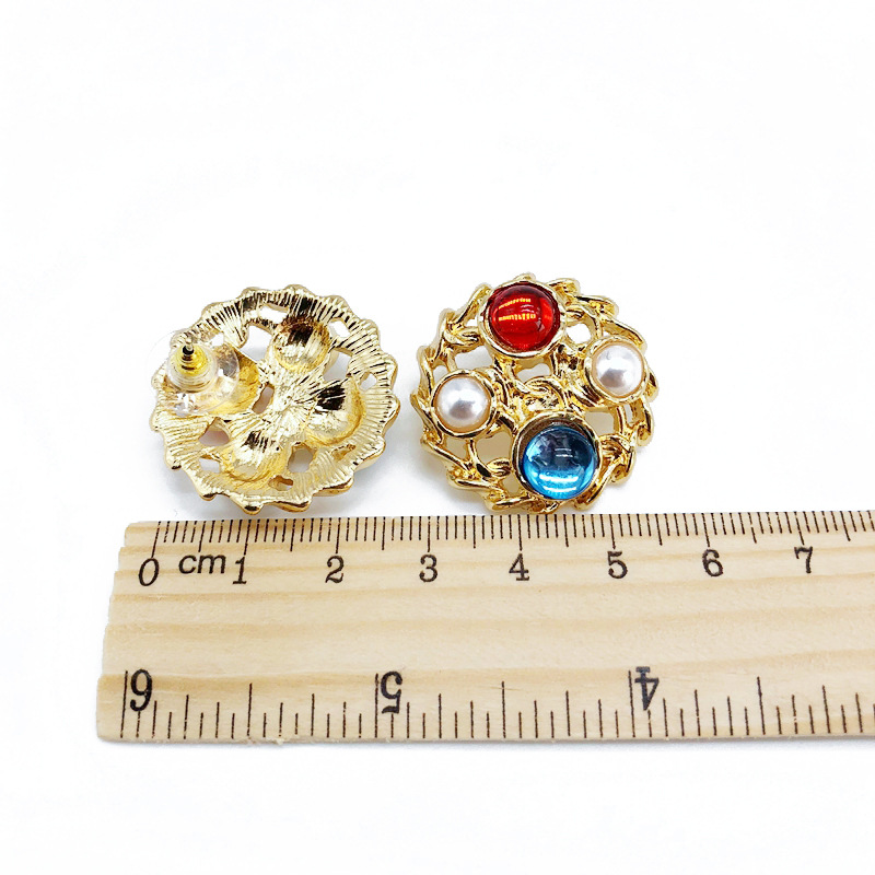 Alloy Fashion  earring  Stud earring NHOM1282Studearring
