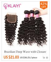 klaiyi волос бразильский вьющихся волос 100% человеческих инструменты для завивки волос натуральный цвет волос дважды утка 8-26 дюйм цельнокроеное платье