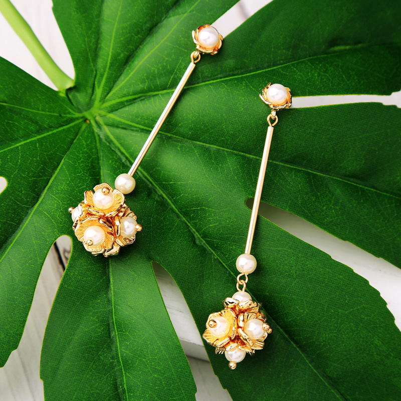 Alloy Fashion Flowers earring(Photo Color) NHQD5178-Photo Color