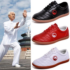 soft leather tai chi shoes for women and men Taiquan training shoes martial arts shoes kung fu shoes Shifang Taoist shoes for men