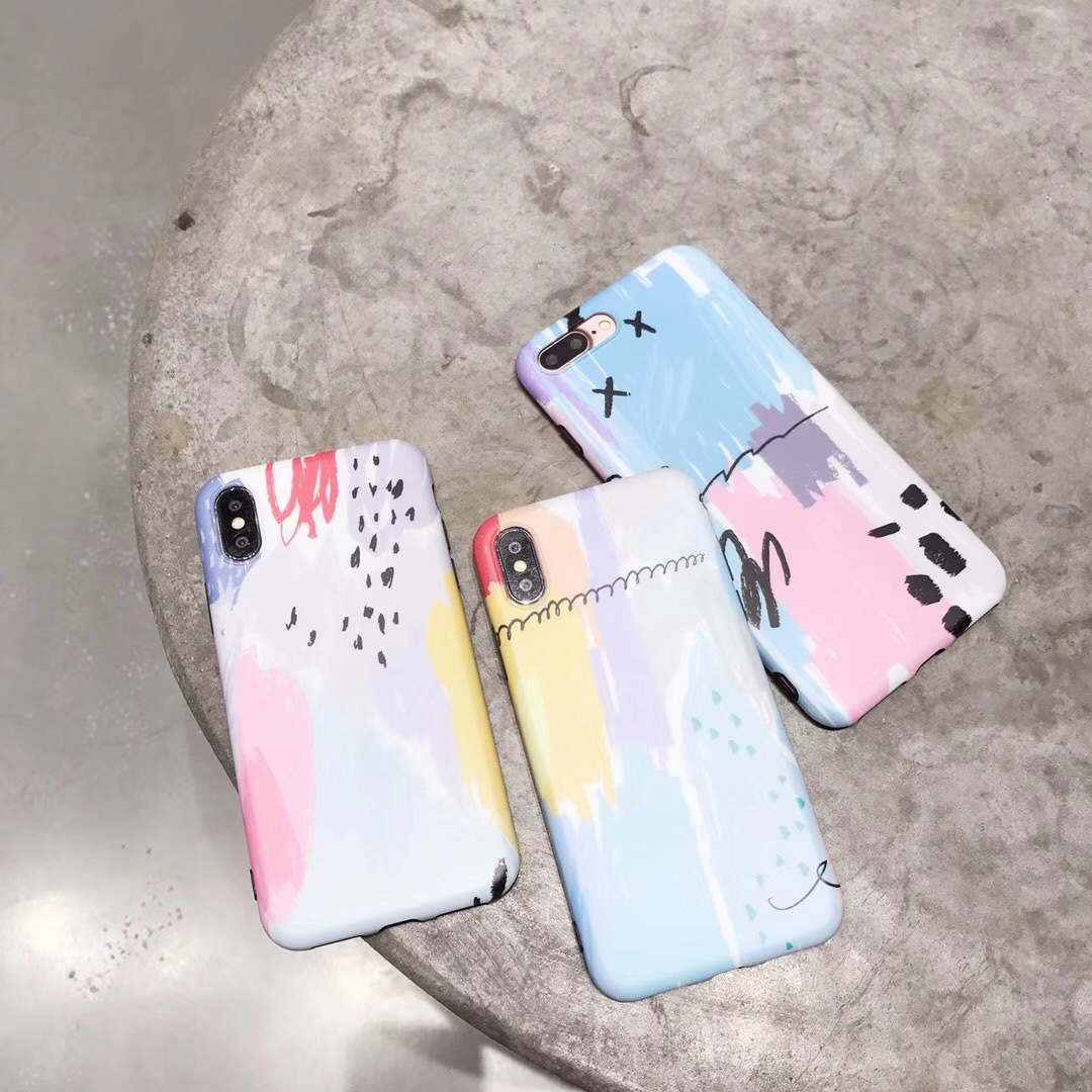Apple X paint IMD all-inclusive graffiti mobile phone case set iPhone8plus couple I7 drop protection cover generation