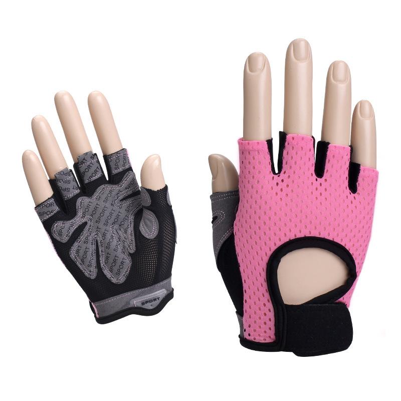 健身手套半指男女健身房运动瑜伽防滑防起茧骑行透气网布厂家批发
