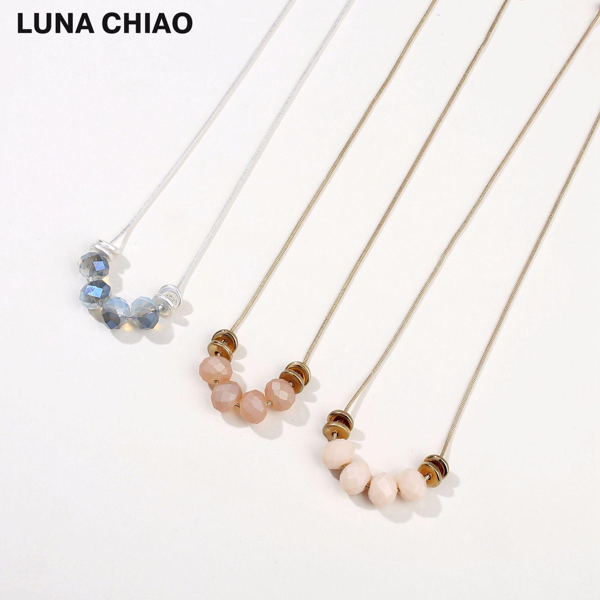 Alloy Fashion Flowers necklace  Yuan alloy + blue NHLU0213Yuanalloyblue