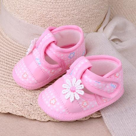 Mùa xuân và mùa thu mẫu chống trượt cho bé tập đi đơn giày nơ vuông Giày bé 9,9 vận chuyển bán buôn 1 Giày em bé