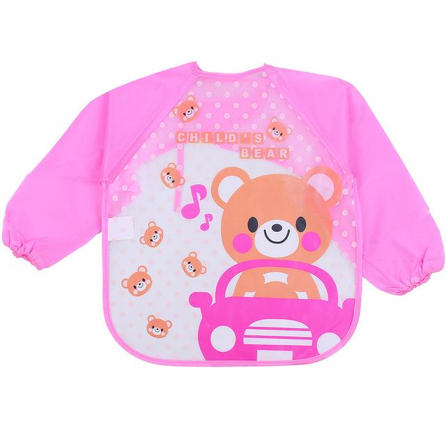Quần áo trẻ em không thấm nước eva smock bé sơn quần áo trẻ em dài tay chống mặc quần áo bib bib Áo choàng
