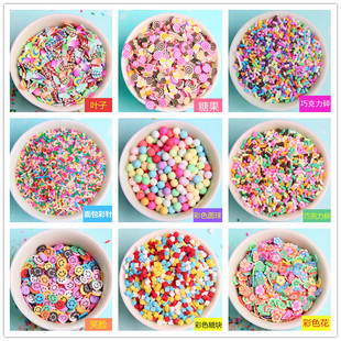 Simulation soft clay crumb particles color chocolate color needle diy cream mobile phone shell material